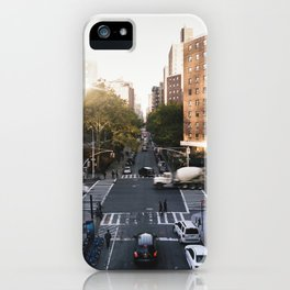 Manhattan street view from the highline iPhone Case