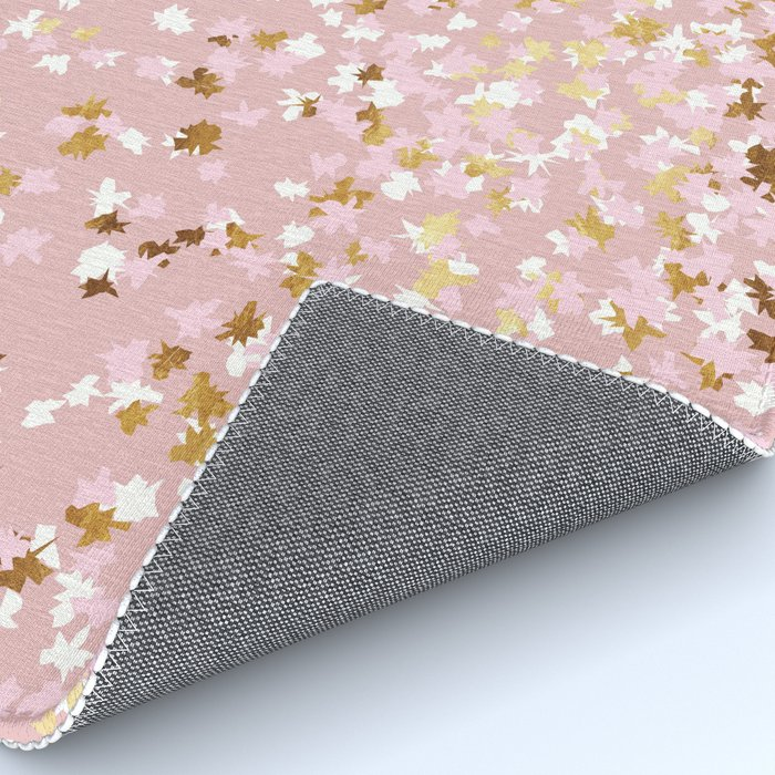 Floating Confetti - Pink Blush and Gold Rug