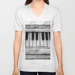 The piano Unisex V-Neck