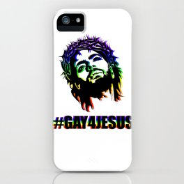 #GAY4JESUS iPhone Case