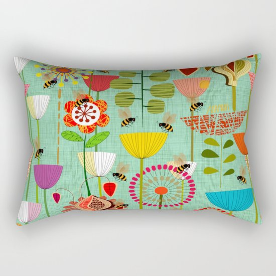 WHERE THE BEES FLY Rectangular Pillow