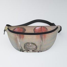 Mixed Media Balloon Girl Fanny Pack