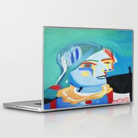 pablo picasso Laptop & iPad Skins featuring Picasso Head 2000 by Artist_Fran_Doll