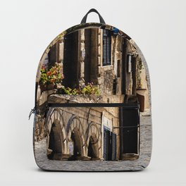 Alleyway in a top-hill medieval village Backpack