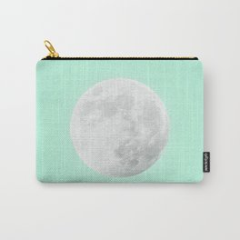 WHITE MOON + TEAL SKY Carry-All Pouch