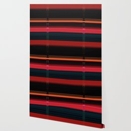 Bright Red Stripes with a Twist Wallpaper