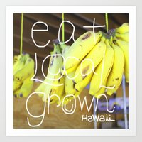 eat Art Prints featuring eat by kyox art hawaii