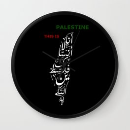 This is Palestine Wall Clock
