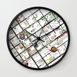 Downtown Billings Brewery Map Wall Clock