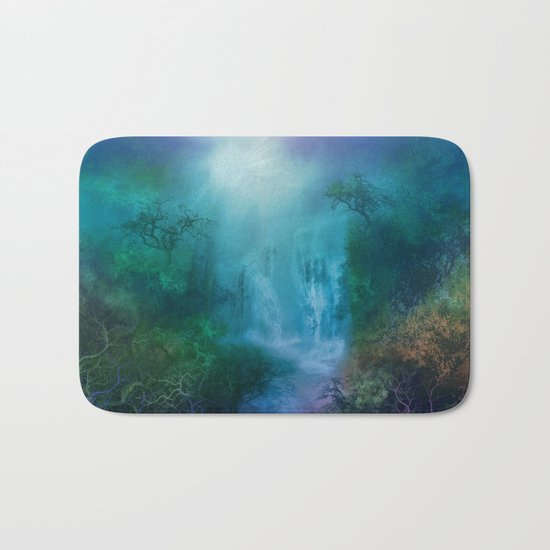 purple forest landscape Bath Mat