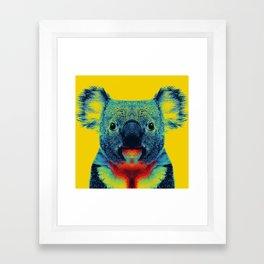 Koala Yellow Animal Framed Art Print