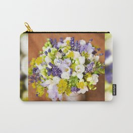 Bridal freesia bouquet wedding flowers Carry-All Pouch