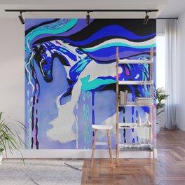 Horse Blue Wall Mural