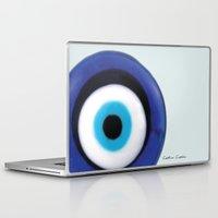 evil eye Laptop & iPad Skins featuring Evil Eye by SalbyN