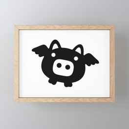 Pigs Will Fly (b&w) Framed Mini Art Print
