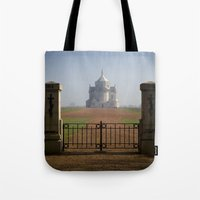 the national Tote Bags featuring Necropole National by davehare