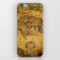 "vintage map iPhone & iPod Skins featuring VintaGe Map by ""CVogiatzi."