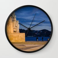 portugal Wall Clocks featuring Portugal by Sébastien BOUVIER
