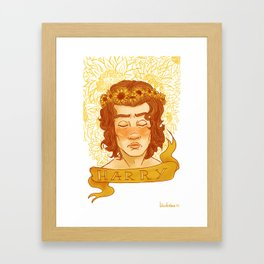 Sunflower Child Harry Framed Art Print