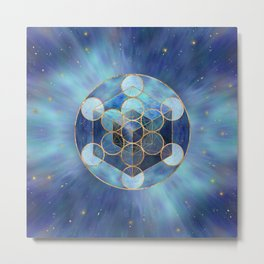 Metatron's Cube Sacred Geometry  Metal Print