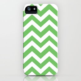 Mantis - green color - Zigzag Chevron Pattern iPhone Case