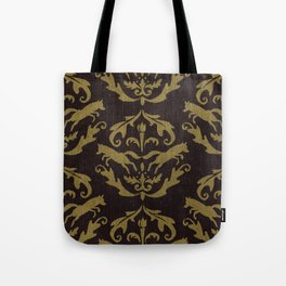 Fox Damask Tote Bag