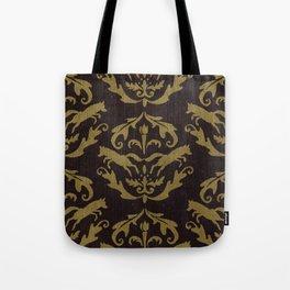 Fox Damask Tote Bag