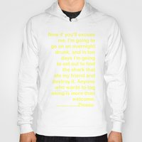 wes anderson Hoodies featuring Life Aquatic Steve Zissou Wes Anderson Movie Quote by FountainheadLtd