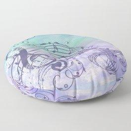 Music Notes Flutter Floor Pillow