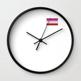 Gay Pride LGBT Lipstick Lesbian Rainbow Flag 2018 Wall Clock