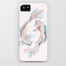 Koi Fish Twins iPhone Case
