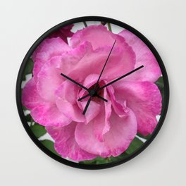Bodacious Pink Rose | Large Pink Flower | Nature Photography Wall Clock