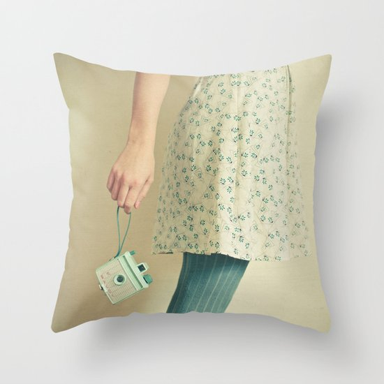 Happiness is my Camera Throw Pillow