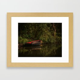 Dinghy On The Oxford Canal Framed Art Print