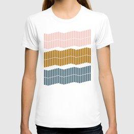 Geometric Piano Keys T-shirt