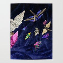 Flock of Cranes Poster