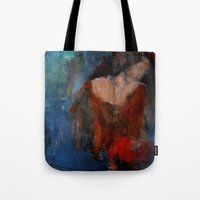 imagerybydianna Tote Bags featuring changing seasons by Imagery by dianna
