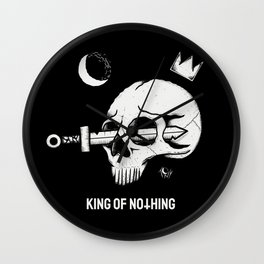 KING OF NXTHING black Wall Clock