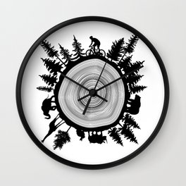 Into The Woods - Tree Ring Wall Clock