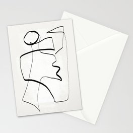 Abstract line art 6 Stationery Cards