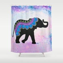 """Ahimsa"" - Patterned Elephant Shower Curtain"
