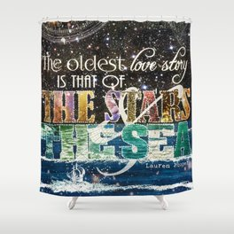 The Stars and the Sea Shower Curtain