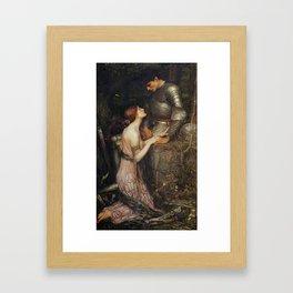 Medieval Knight romance Framed Art Print