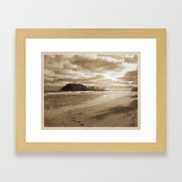 Footsteps In The Sand Framed Art Print