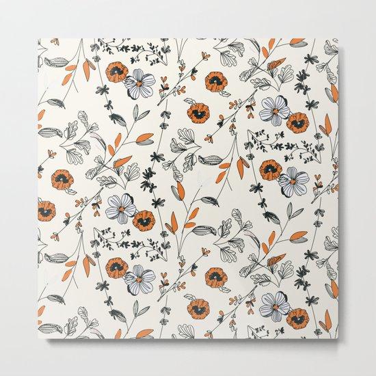 Floral pattern Flowers Metal Print