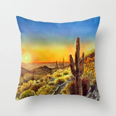 Arizona's Sunset Throw Pillow