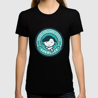 Sherlock X-LARGE Womens Fitted Tee Black