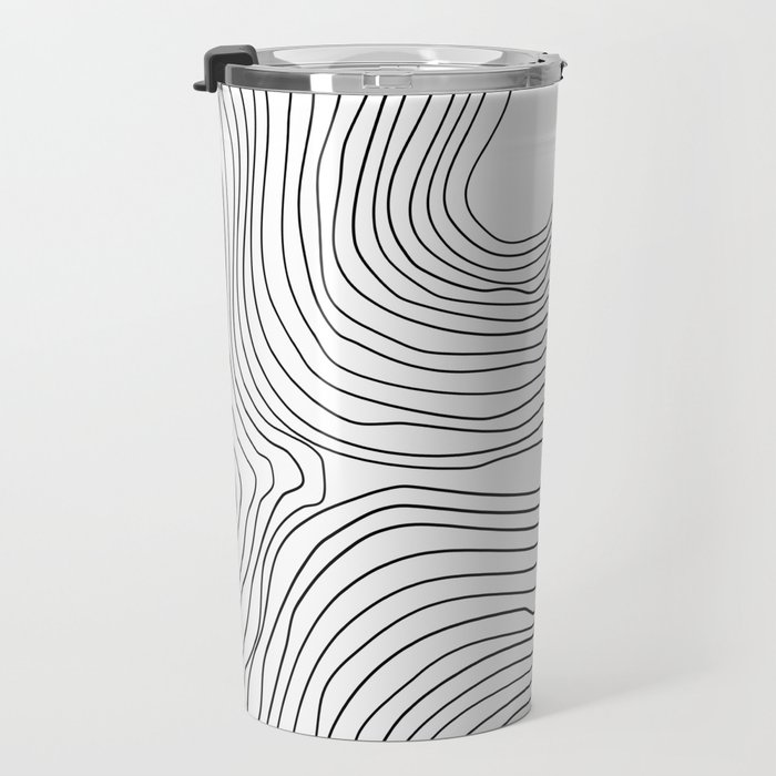 Linear abstraction #2 Travel Mug