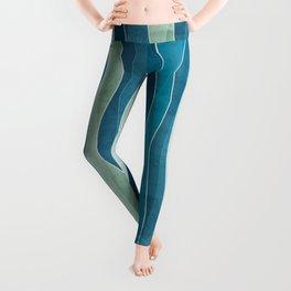 Blue Stripes Leggings