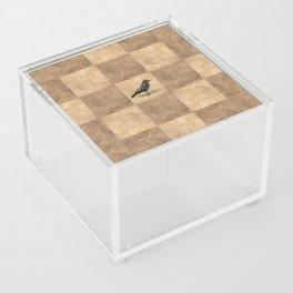 Patchwork Crow Acrylic Box